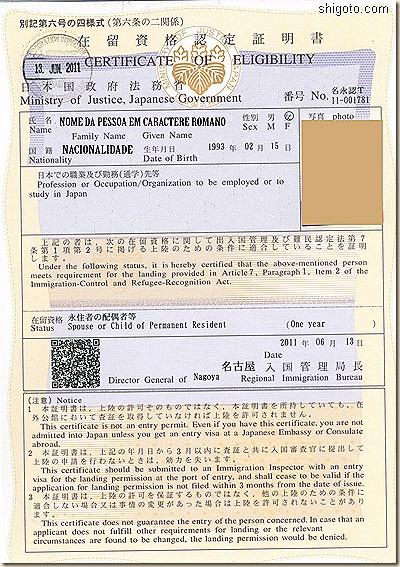 Certificado de elegibilidade